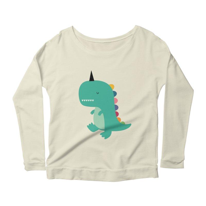 Dinocorn Women's Scoop Neck Longsleeve T-Shirt by andywestface's Artist Shop