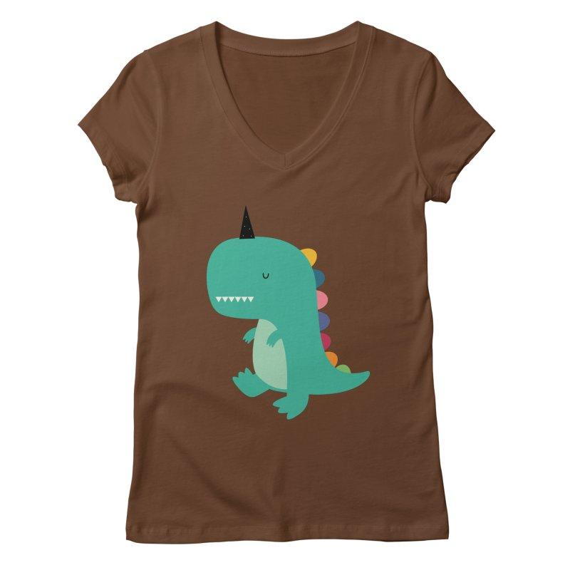 Dinocorn Women's Regular V-Neck by andywestface's Artist Shop