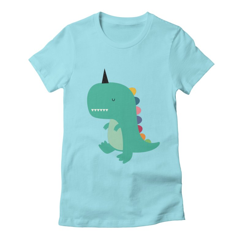 Dinocorn Women's Fitted T-Shirt by andywestface's Artist Shop