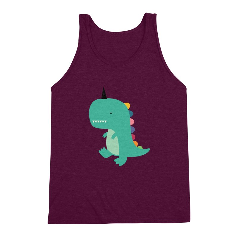 Dinocorn Men's Triblend Tank by andywestface's Artist Shop