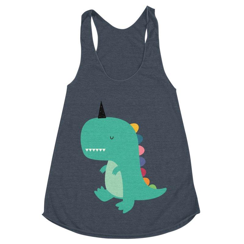 Dinocorn Women's Racerback Triblend Tank by andywestface's Artist Shop