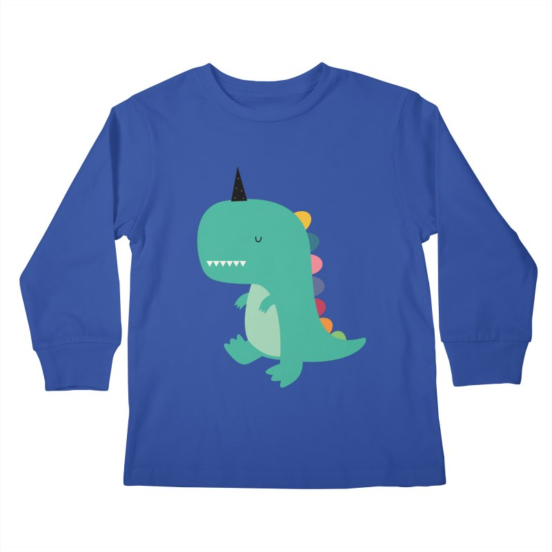 Dinocorn Kids Longsleeve T-Shirt by andywestface's Artist Shop