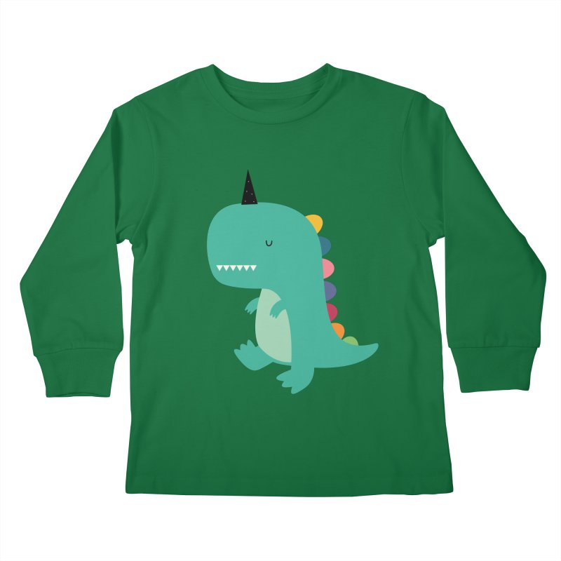 Dinocorn Kids Longsleeve T-Shirt by andywestface's Artist Shop