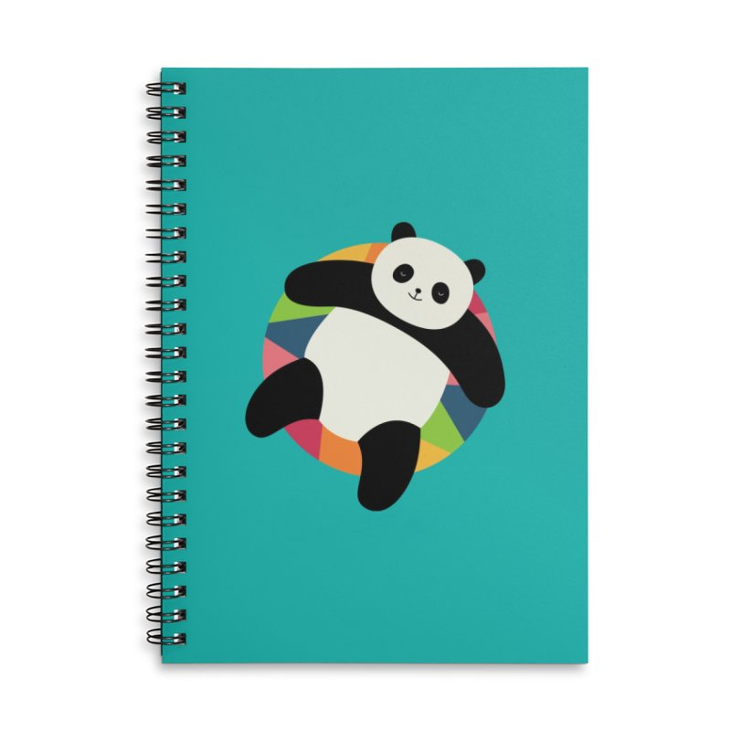 Chillin Accessories Lined Spiral Notebook by andywestface's Artist Shop