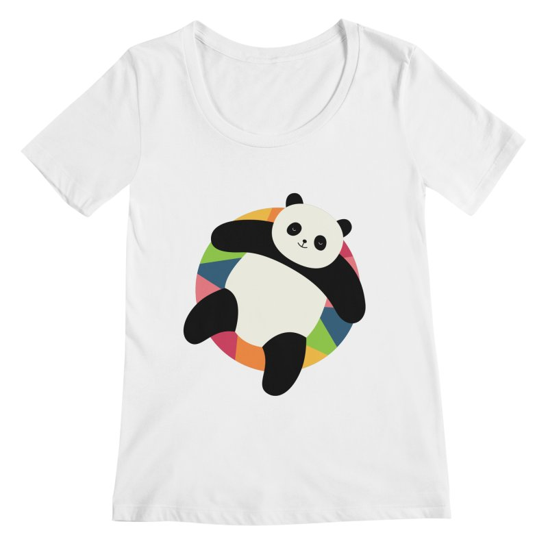 Chillin Women's Regular Scoop Neck by andywestface's Artist Shop