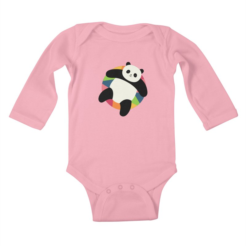 Chillin Kids Baby Longsleeve Bodysuit by andywestface's Artist Shop