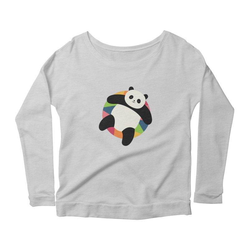 Chillin Women's Scoop Neck Longsleeve T-Shirt by andywestface's Artist Shop