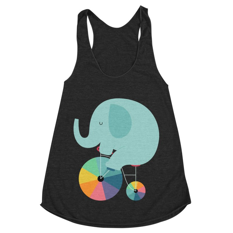 Beautiful Ride Women's Racerback Triblend Tank by andywestface's Artist Shop
