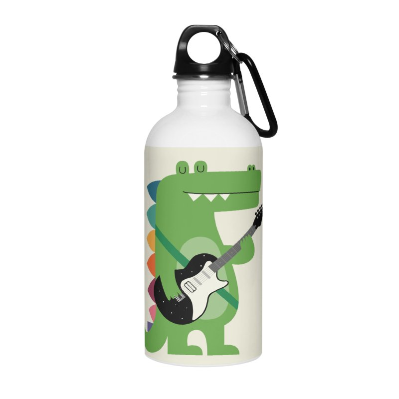 Croco Rock Accessories Water Bottle by andywestface's Artist Shop