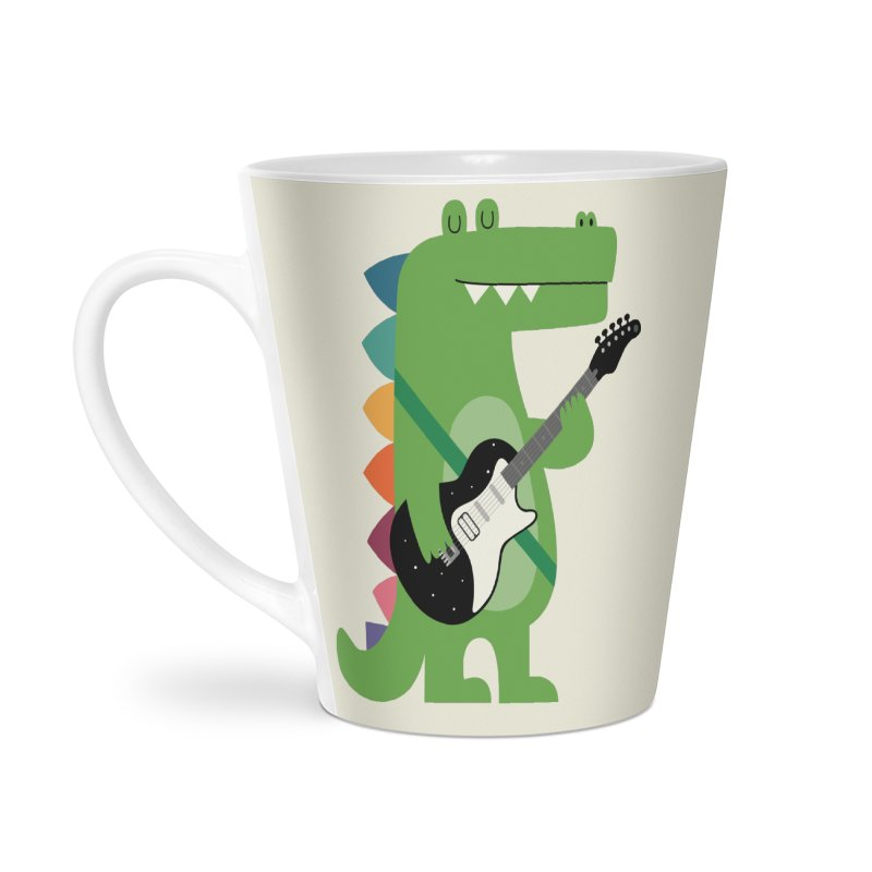 Croco Rock Accessories Latte Mug by andywestface's Artist Shop