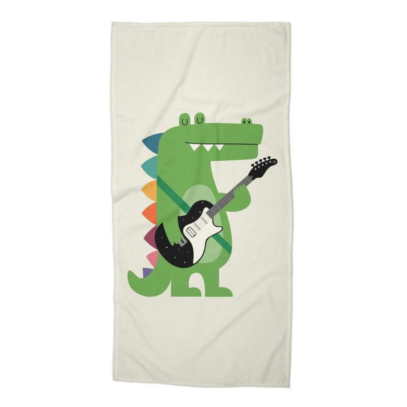 Croco Rock Accessories Beach Towel by andywestface's Artist Shop