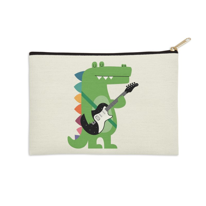 Croco Rock Accessories Zip Pouch by andywestface's Artist Shop