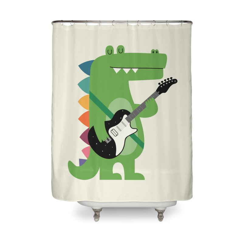 Croco Rock Home Shower Curtain by andywestface's Artist Shop