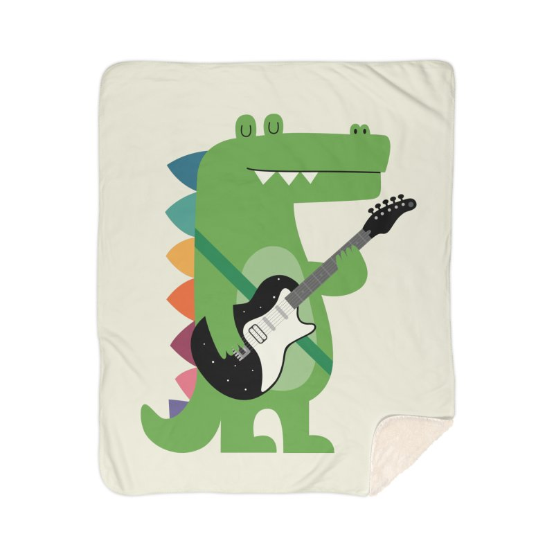 Croco Rock Home Sherpa Blanket Blanket by andywestface's Artist Shop