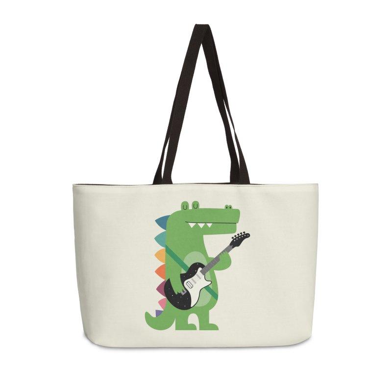 Croco Rock Accessories Weekender Bag Bag by andywestface's Artist Shop