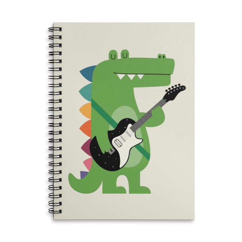 Croco Rock Accessories Lined Spiral Notebook by andywestface's Artist Shop