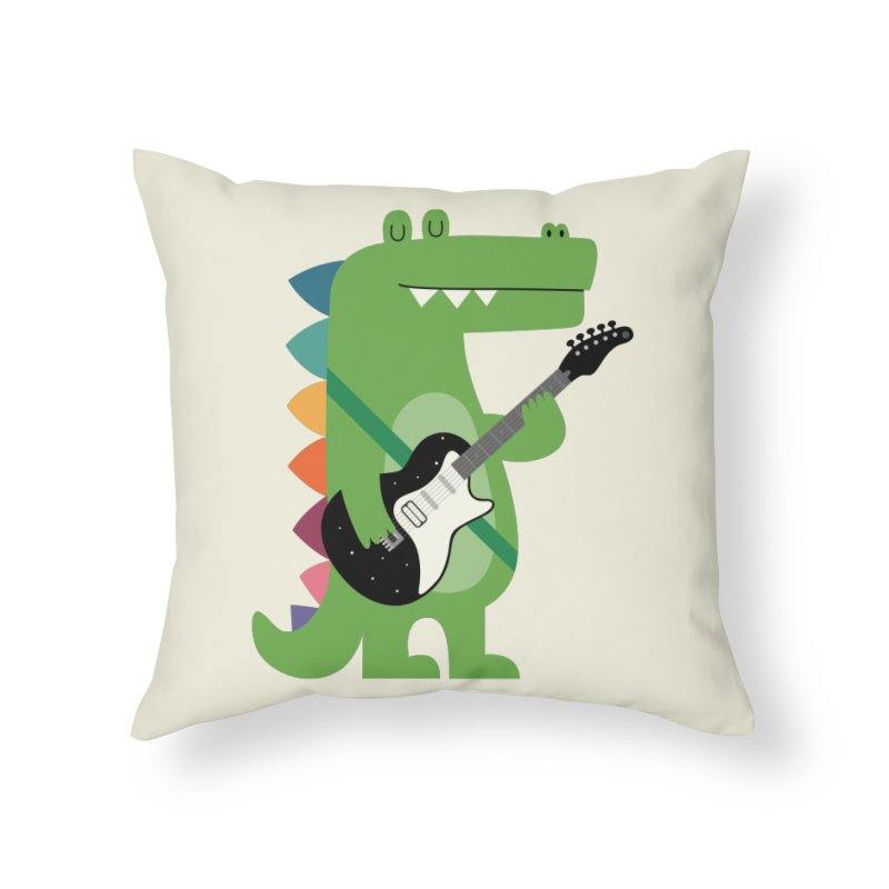 Croco Rock Home Throw Pillow by andywestface's Artist Shop