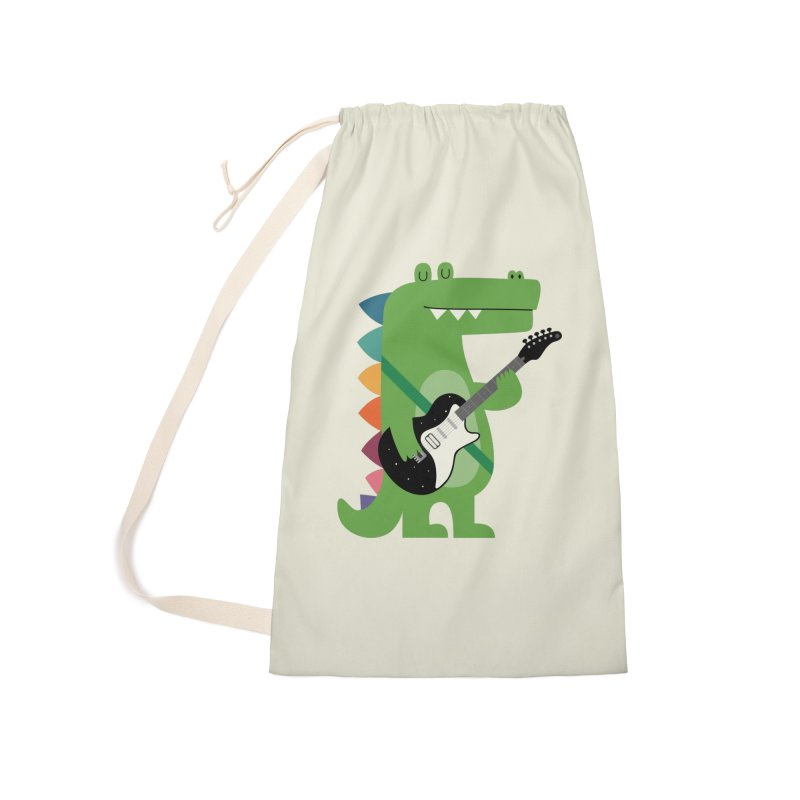 Croco Rock Accessories Laundry Bag Bag by andywestface's Artist Shop