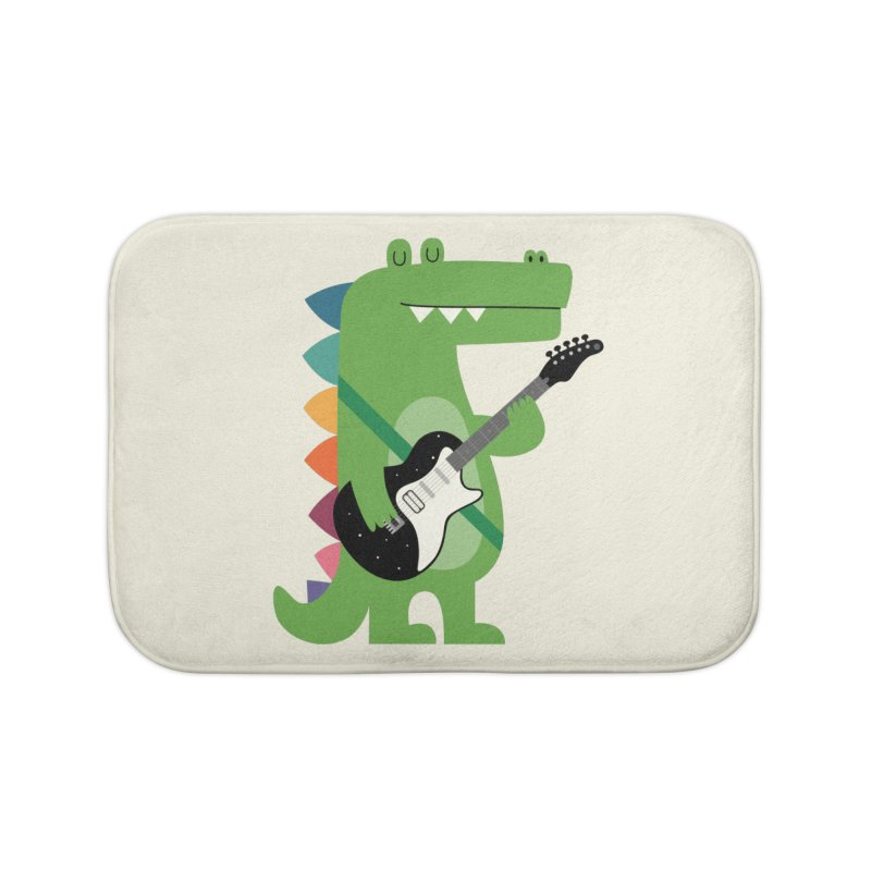 Croco Rock Home Bath Mat by andywestface's Artist Shop
