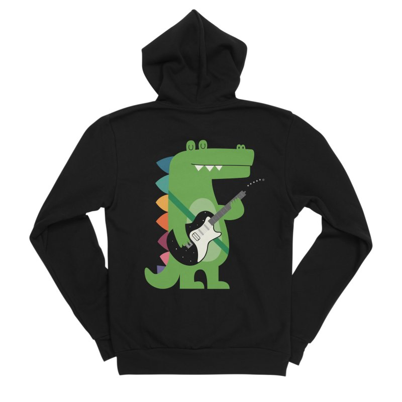 Croco Rock Men's Sponge Fleece Zip-Up Hoody by andywestface's Artist Shop