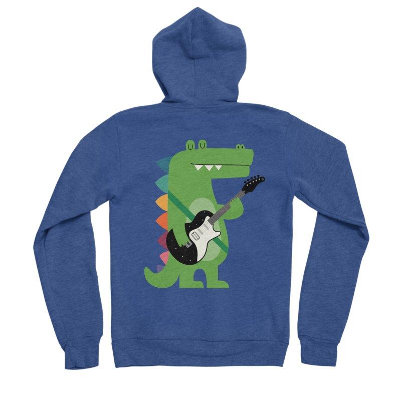 Croco Rock Men's Sponge Fleece Zip-Up Hoody by andywestface's Artist Shop