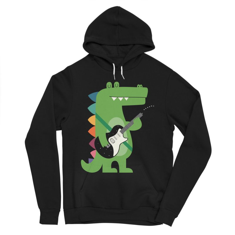 Croco Rock Men's Sponge Fleece Pullover Hoody by andywestface's Artist Shop