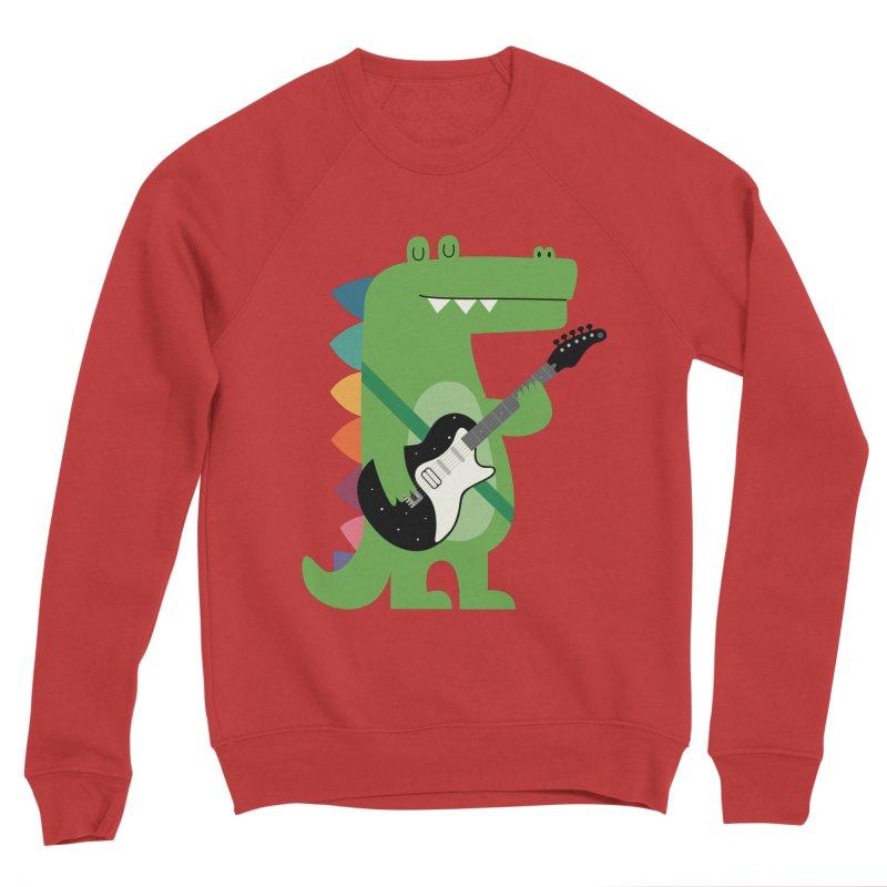 Croco Rock Women's Sponge Fleece Sweatshirt by andywestface's Artist Shop