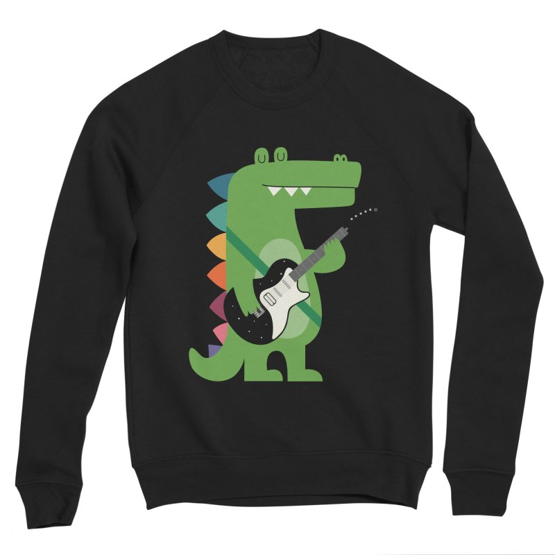 Croco Rock Men's Sponge Fleece Sweatshirt by andywestface's Artist Shop
