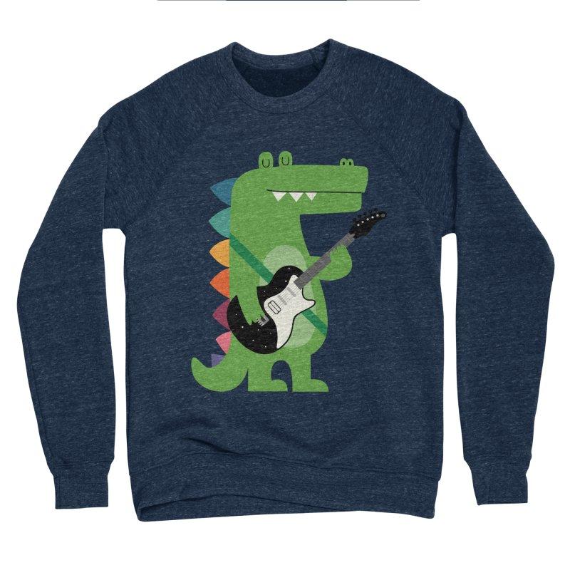 Croco Rock Men's Sponge Fleece Sweatshirt by andywestface's Artist Shop