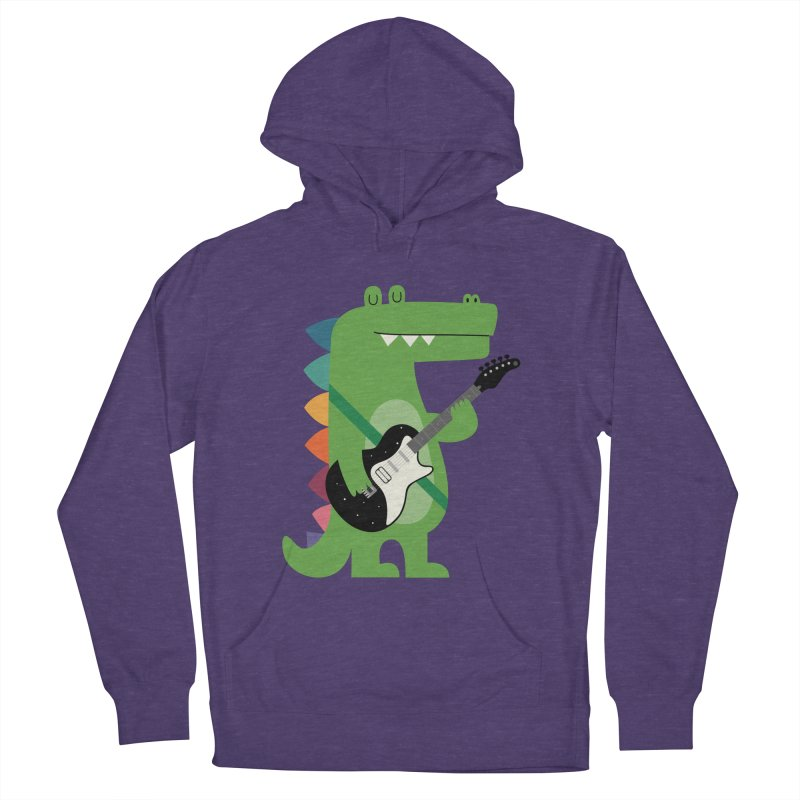 Croco Rock Women's French Terry Pullover Hoody by andywestface's Artist Shop