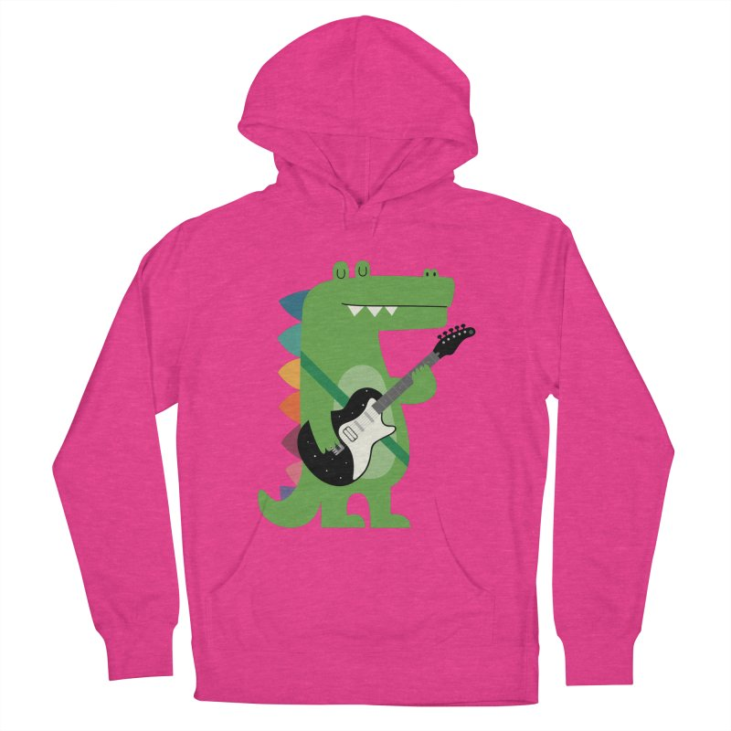 Croco Rock Men's French Terry Pullover Hoody by andywestface's Artist Shop