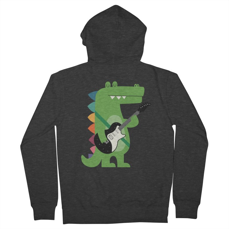 Croco Rock Women's French Terry Zip-Up Hoody by andywestface's Artist Shop