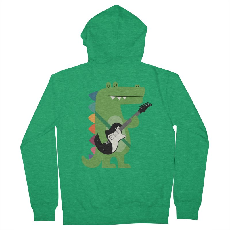 Croco Rock Men's French Terry Zip-Up Hoody by andywestface's Artist Shop
