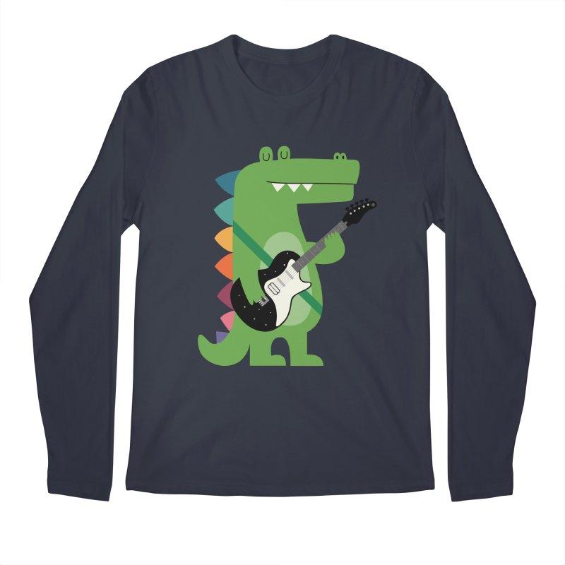 Croco Rock Men's Regular Longsleeve T-Shirt by andywestface's Artist Shop