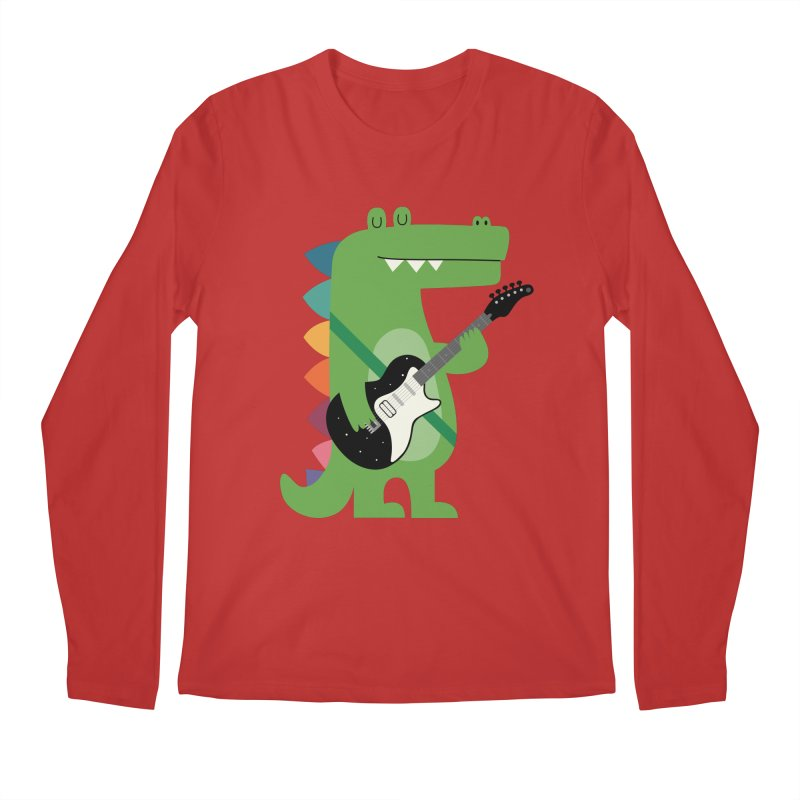 Croco Rock Men's Regular Longsleeve T-Shirt by andywestface's Artist Shop