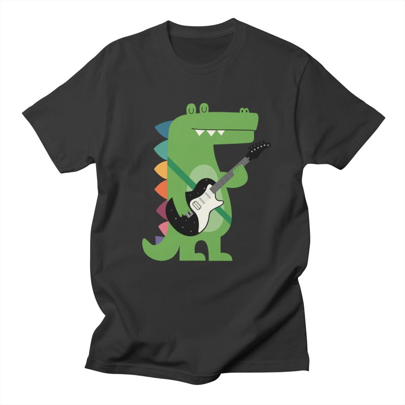 Croco Rock Men's Regular T-Shirt by andywestface's Artist Shop