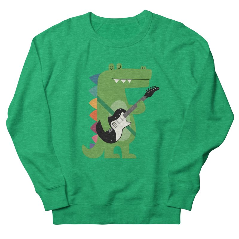 Croco Rock Women's French Terry Sweatshirt by andywestface's Artist Shop