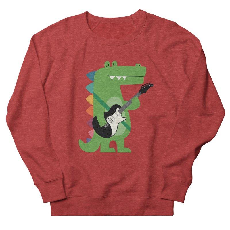 Croco Rock Men's French Terry Sweatshirt by andywestface's Artist Shop