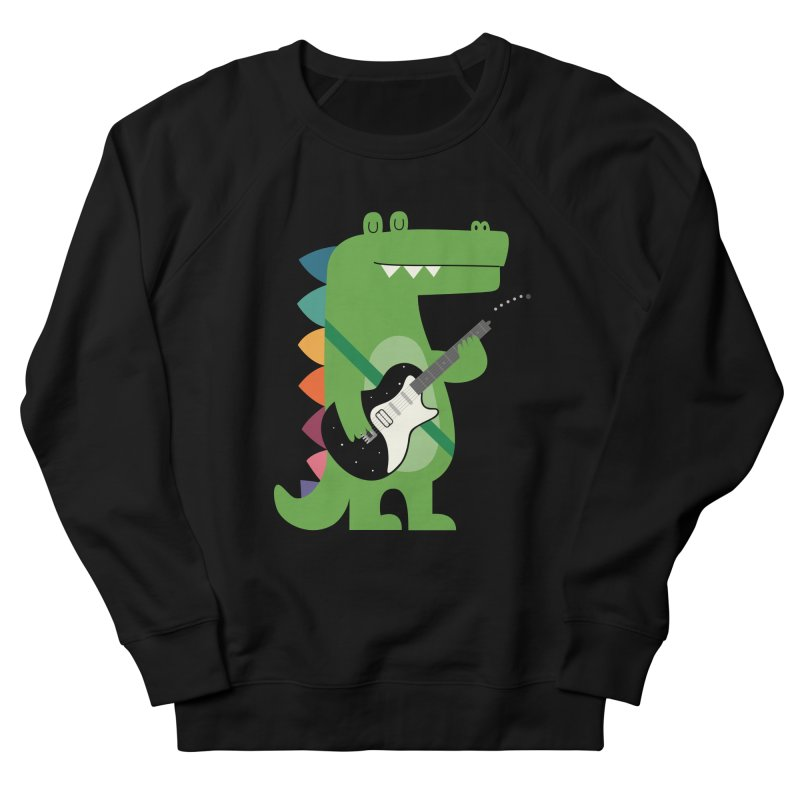 Croco Rock Men's French Terry Sweatshirt by andywestface's Artist Shop