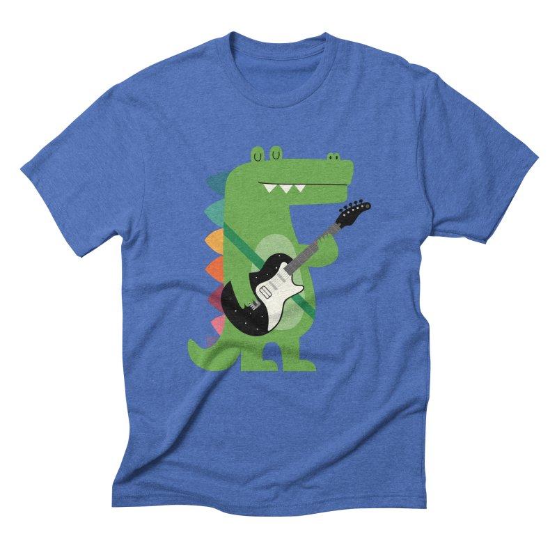 Croco Rock Men's Triblend T-Shirt by andywestface's Artist Shop