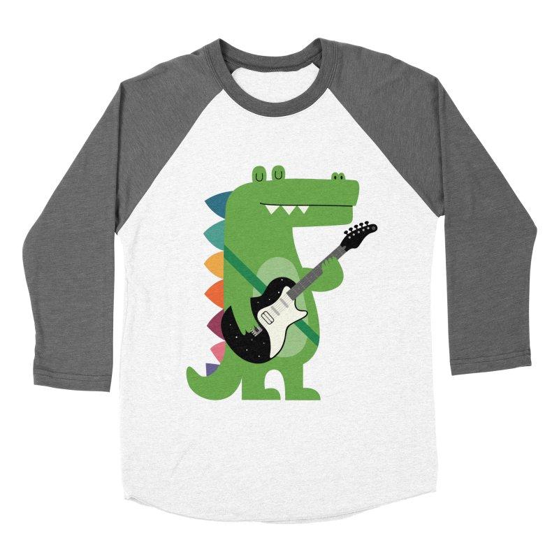 Croco Rock Women's Baseball Triblend Longsleeve T-Shirt by andywestface's Artist Shop