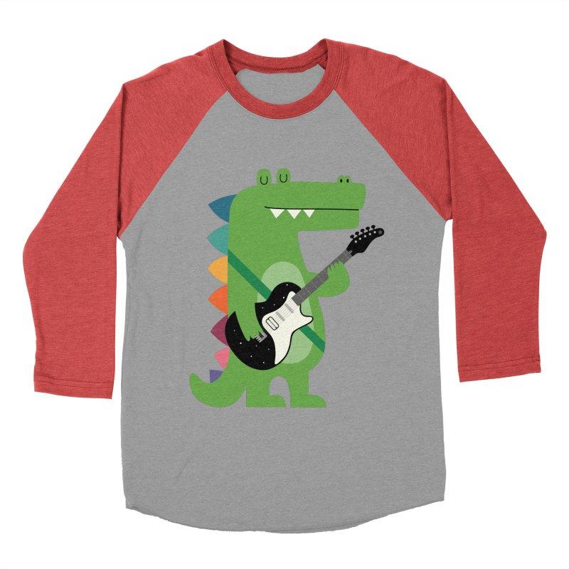 Croco Rock Men's Baseball Triblend Longsleeve T-Shirt by andywestface's Artist Shop