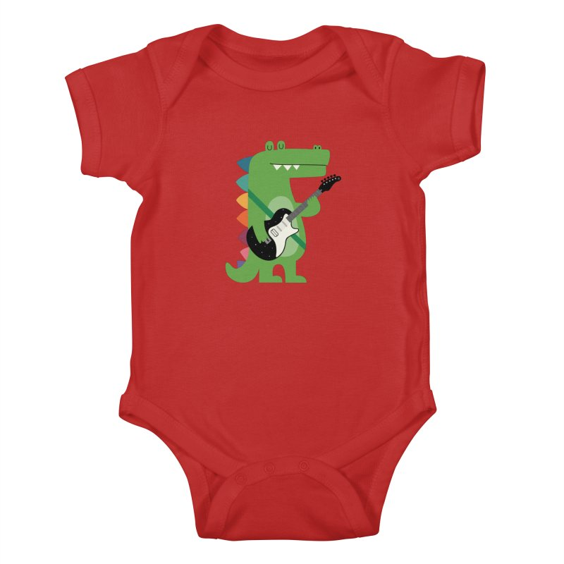 Croco Rock Kids Baby Bodysuit by andywestface's Artist Shop