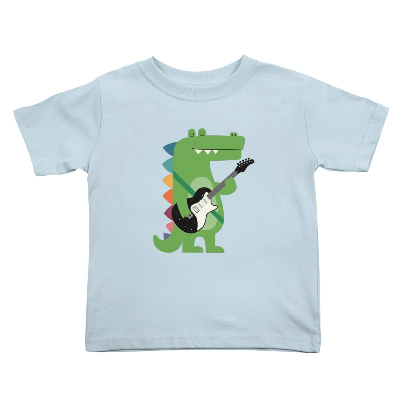 Croco Rock Kids Toddler T-Shirt by andywestface's Artist Shop
