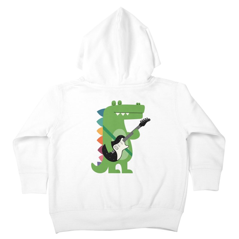 Croco Rock Kids Toddler Zip-Up Hoody by andywestface's Artist Shop