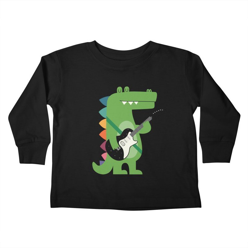 Croco Rock Kids Toddler Longsleeve T-Shirt by andywestface's Artist Shop