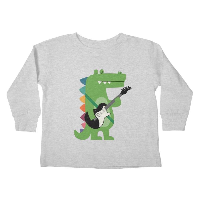 Croco Rock Kids Toddler Longsleeve T-Shirt by andywestface's Artist Shop