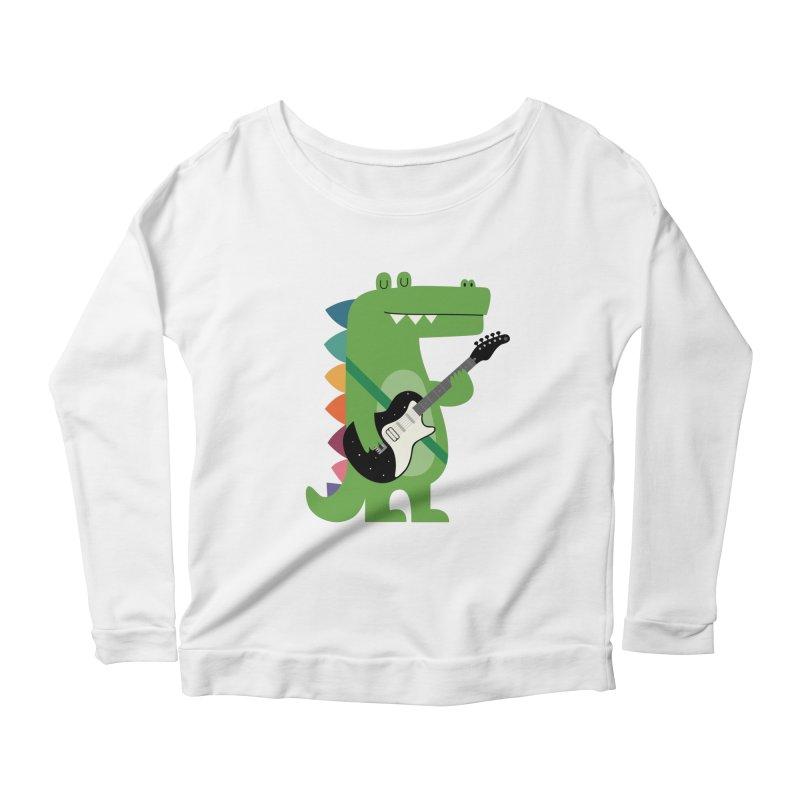 Croco Rock Women's Scoop Neck Longsleeve T-Shirt by andywestface's Artist Shop