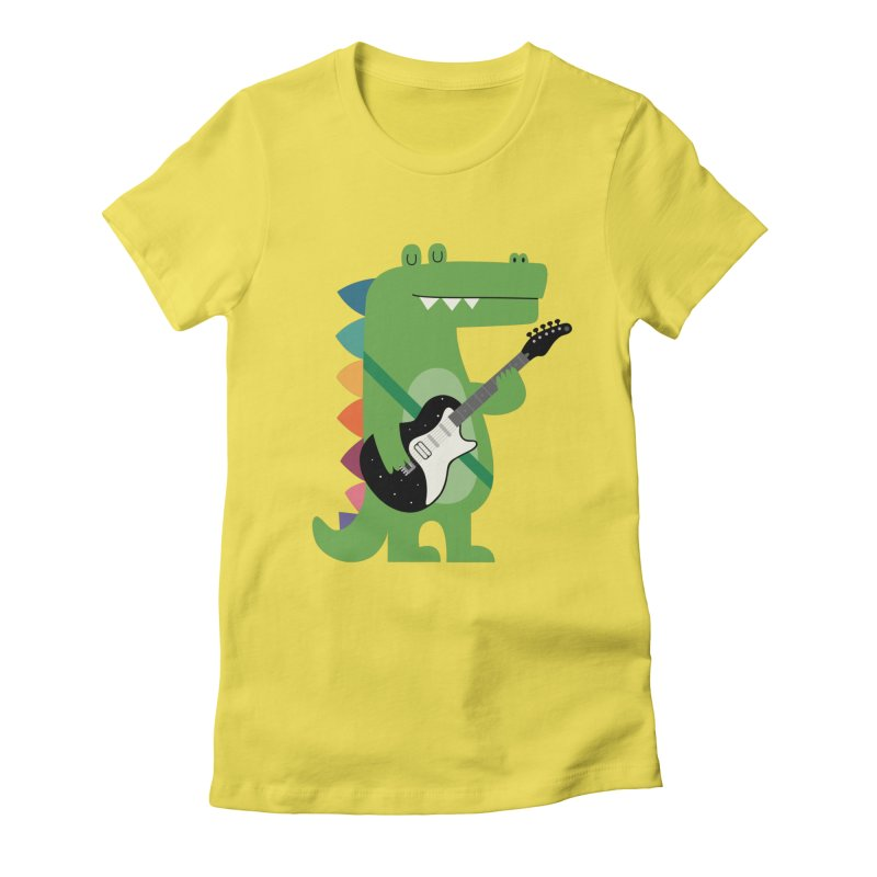 Croco Rock Women's Fitted T-Shirt by andywestface's Artist Shop