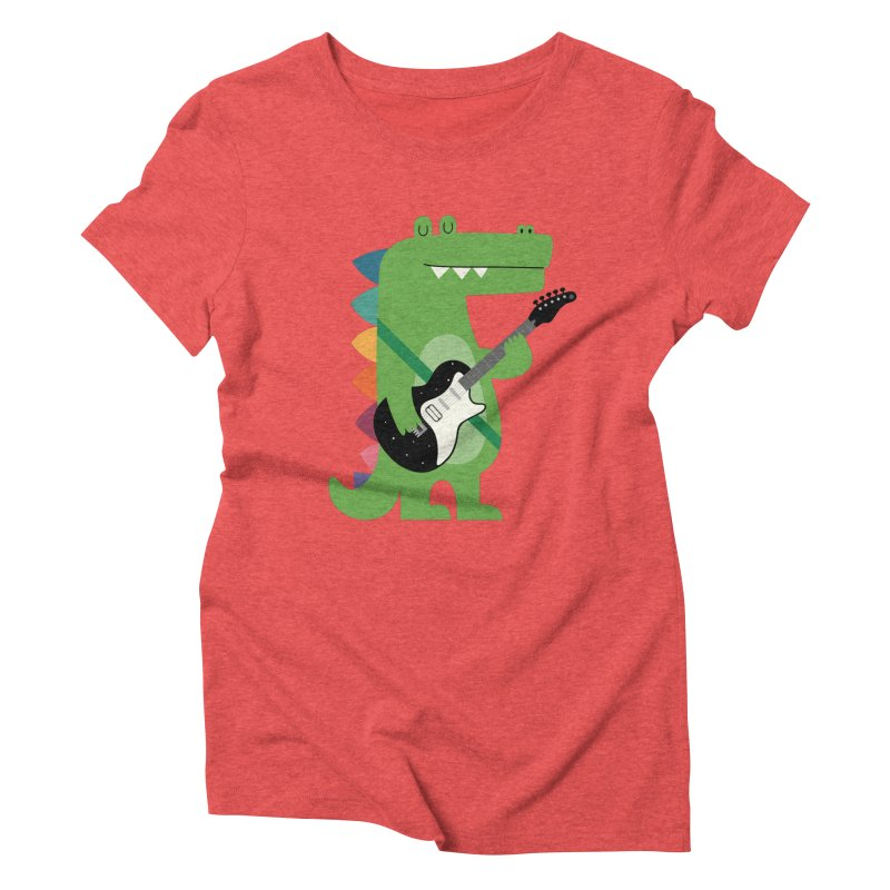 Croco Rock Women's Triblend T-Shirt by andywestface's Artist Shop